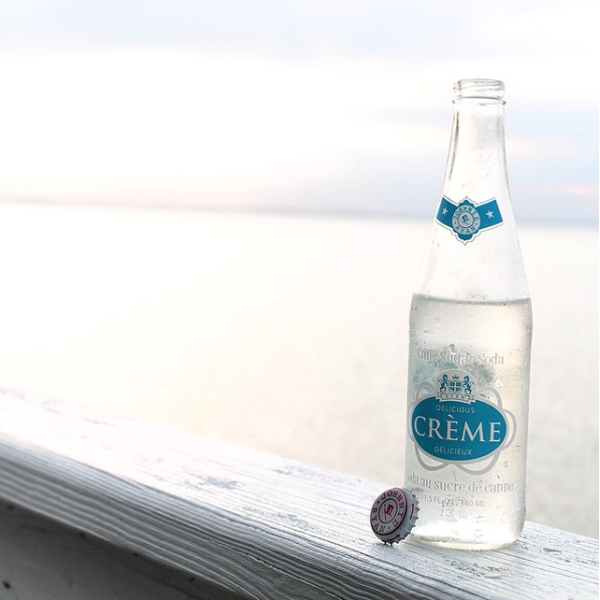 @gifrey00: #johnnieryan #johnnieryansoda #creme #cremesoda #cream #creamsoda #pure #cane #sure #purecane #soda #bottle #cap #glass #glassbottle #pop #beach #bay #ocean #water