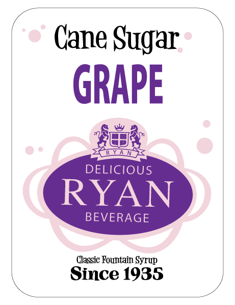 Cane Sugar, Cane Sugar Sodas, Cane Sugar Fountain Syrups, Grape Fountain Syrup