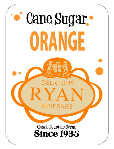 Cane Sugar, Cane Sugar Sodas, Cane Sugar Fountain Syrups, Orange Fountain Syrup